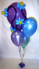 Swirls of flowers birthday bouquet $25, view A
